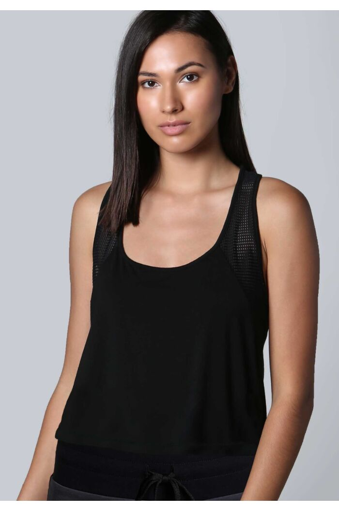Cutout Back Crop Tank