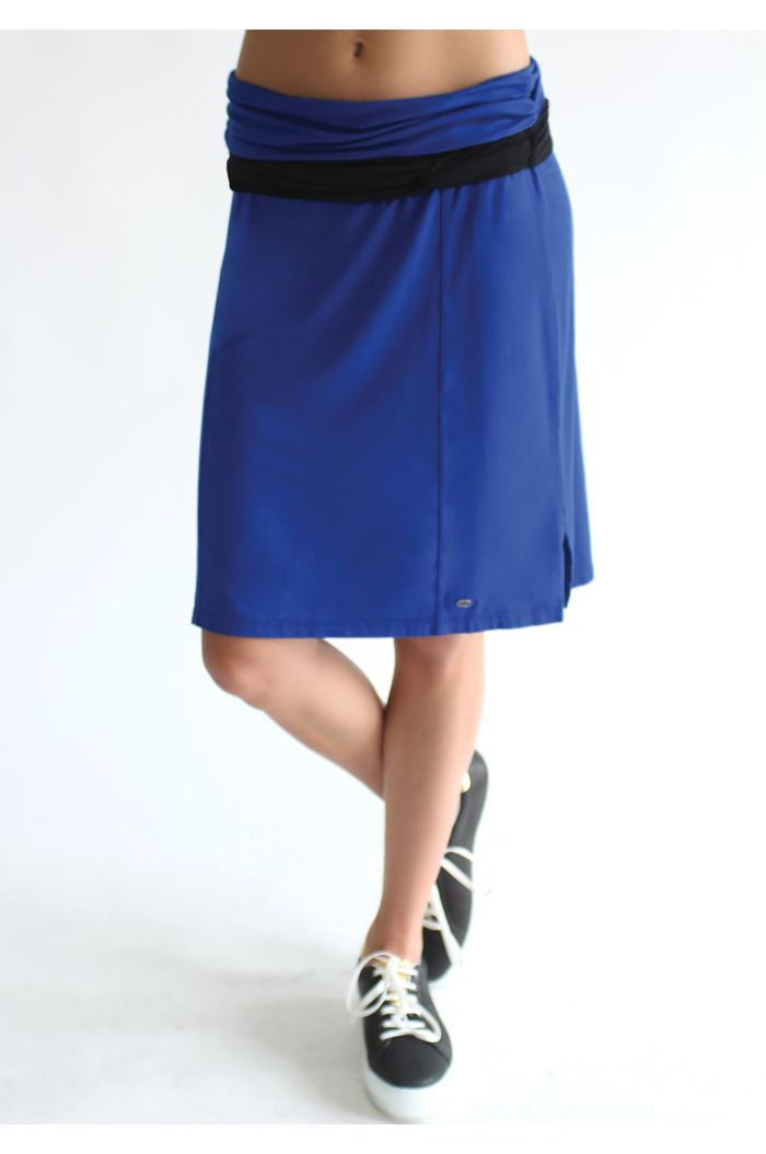 Twisted Colorblock Skirt